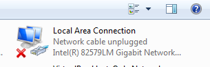 No Network connection - Unidentified Network