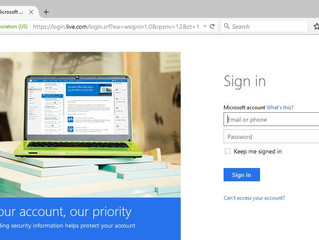 How to setup two step authentication on Hotmail and Outlook email services.