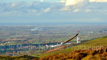 Glider Fly by On Moel Famau, Denbighshire