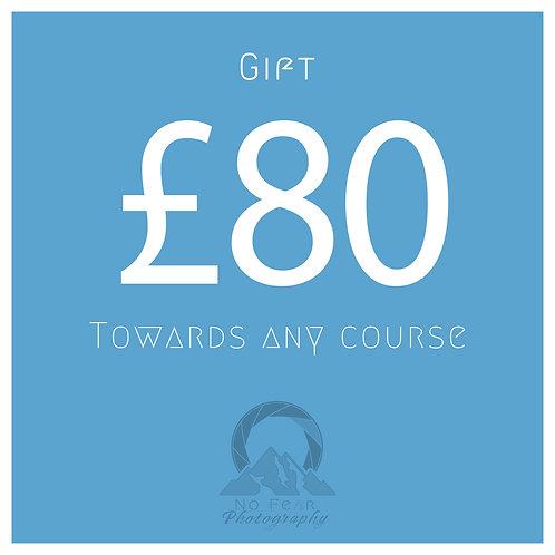 £80 Towards Any Course