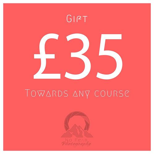 £35 Towards Any Course
