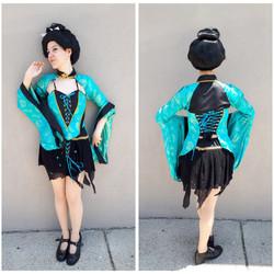 Teal Sexy Geisha