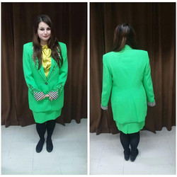 Lime 80's Business Woman