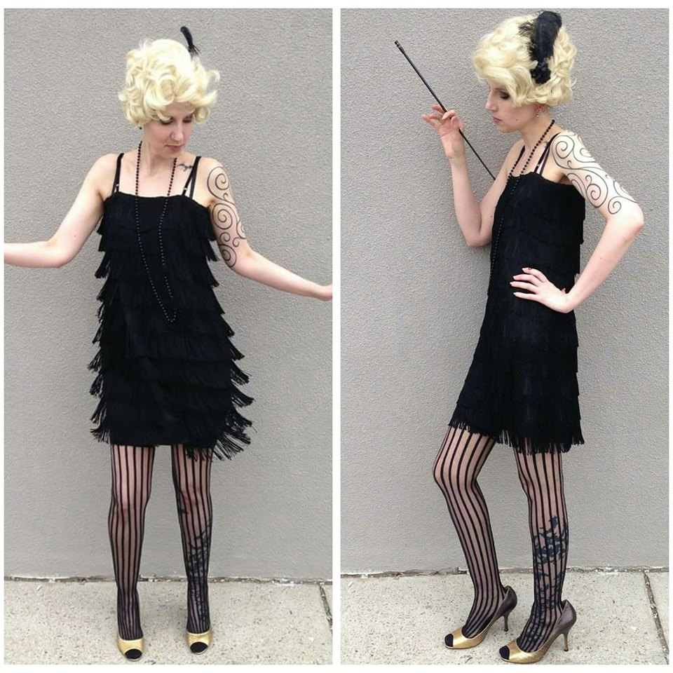 Black Fringe Flapper
