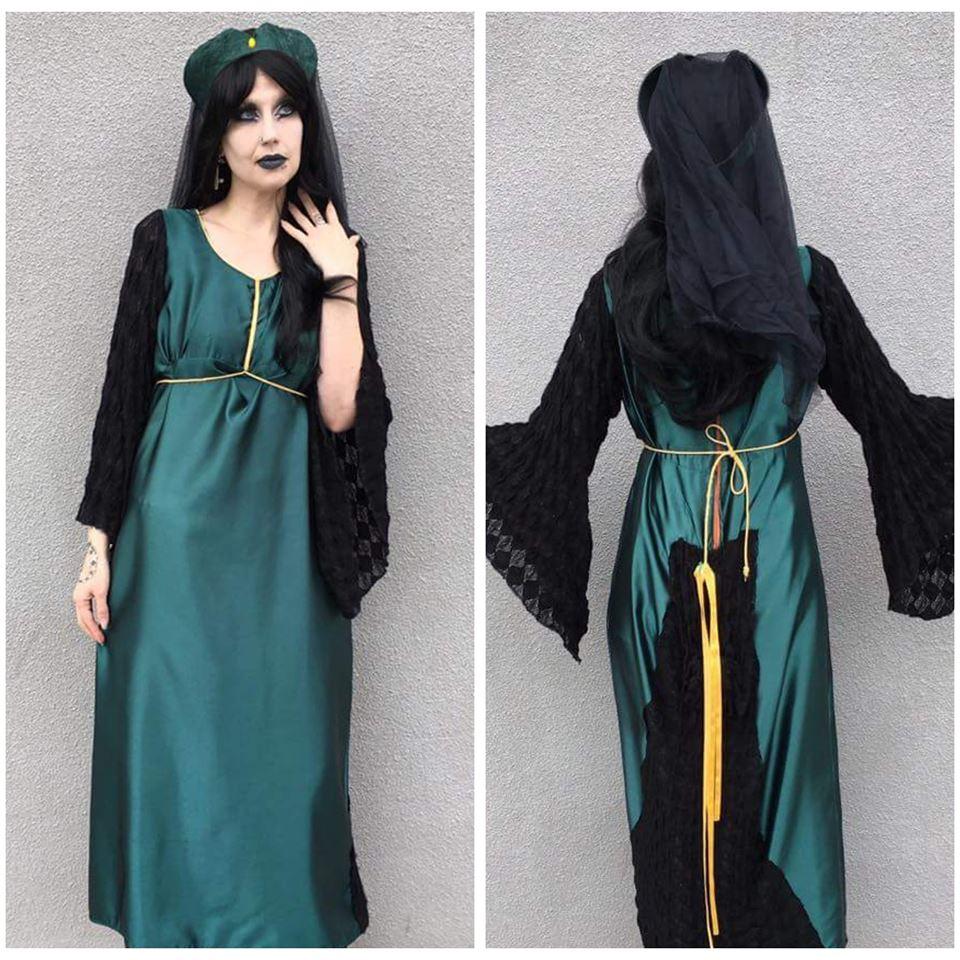 Green Satin Medieval