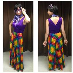 Purple Multi Colour Pantsuit
