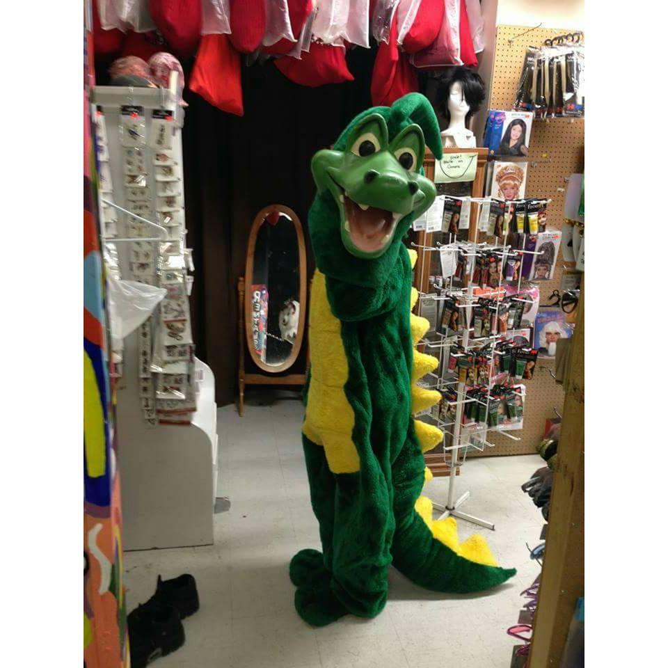 Green Mascot Dragon