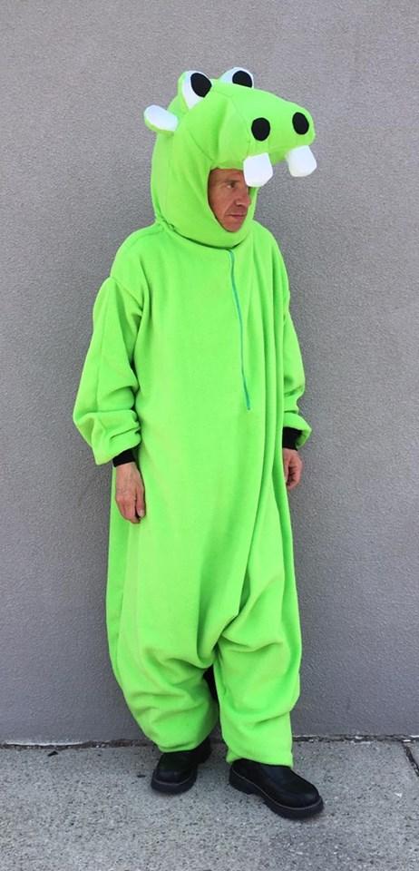 Green Hippo Onesie