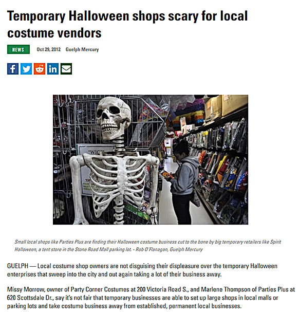halloween guelph local year round party supply costume news october