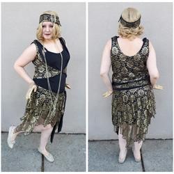 Black & Gold Lace Flapper