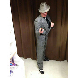 Gray Pinstripe Gangster