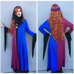 Blue + Burgundy Medieval Maiden
