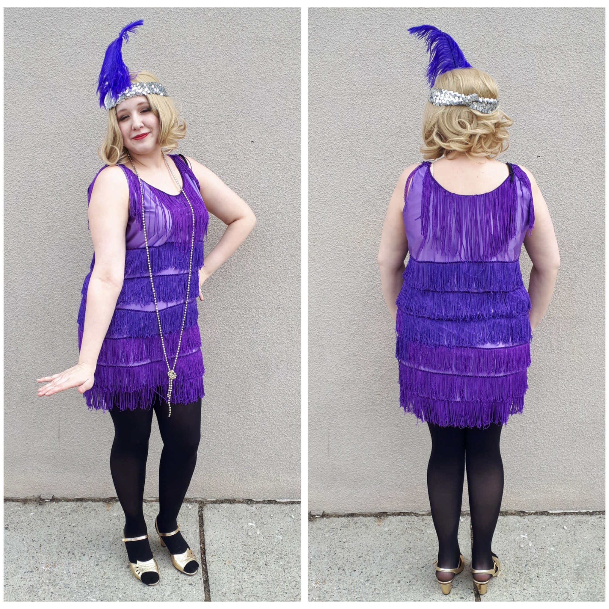 Purple Fringe Flapper