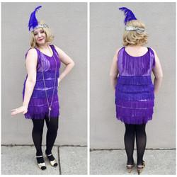 Purple Fringe Flapper