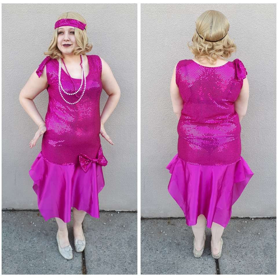 Hot Pink Sequin Flapper