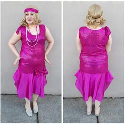 Hot Pink Sequin Flapper
