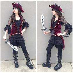 Burgundy Velvet Pirate