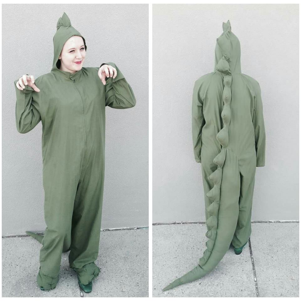 Green Open Face Dinosaur