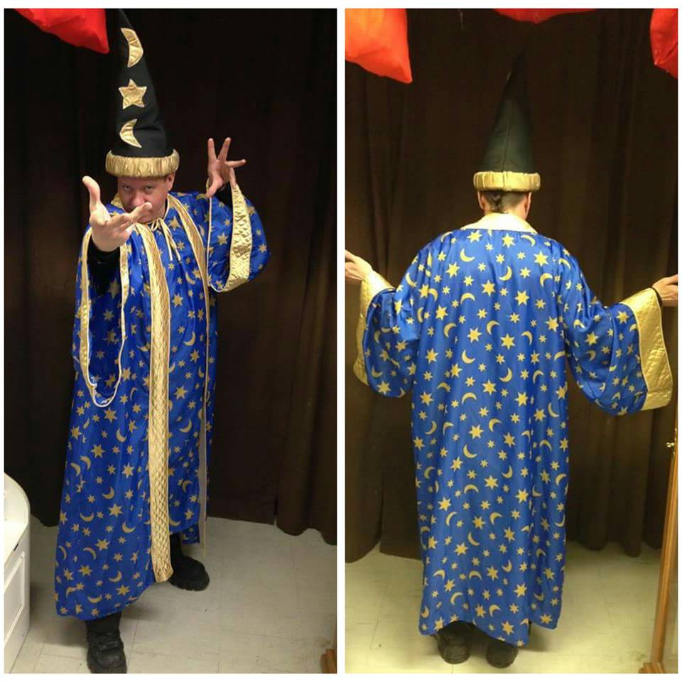 Blue Wizard w/ Gold Stars