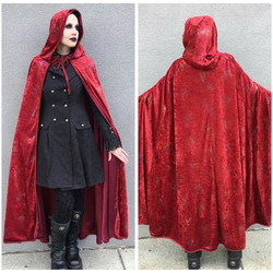 Red Hooded Sparkle Cape