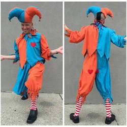 Orange & Blue Jester