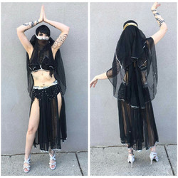 Black and Silver Harem Girl