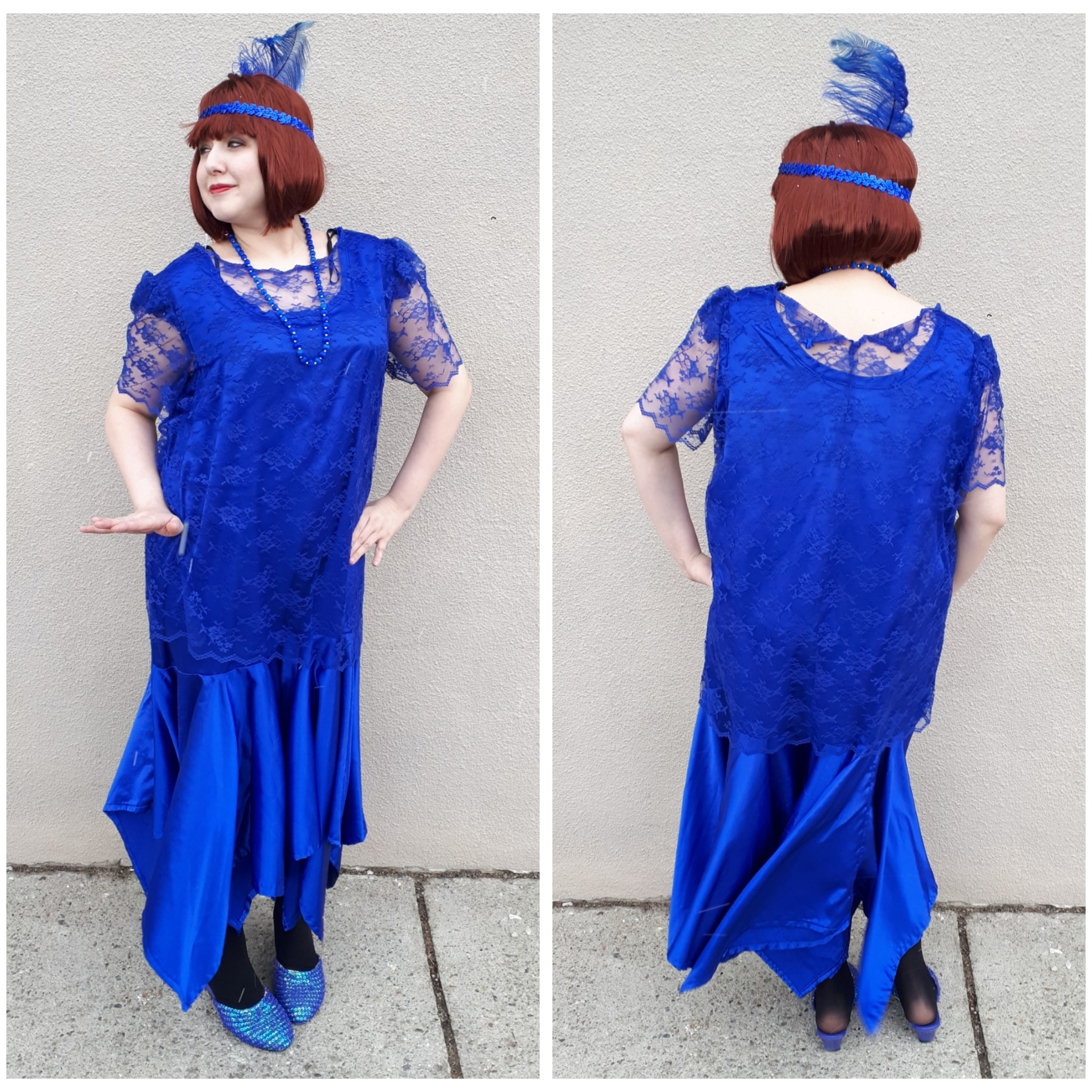 Plus Size Blue Lace Flapper