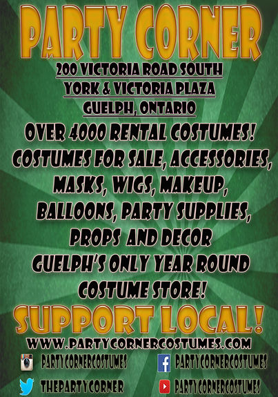 guelph local costume store halloween