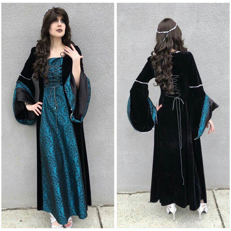 Teal Medieval Dress
