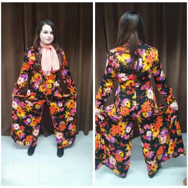 70's Floral Pantsuit