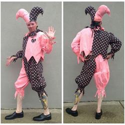 Pink & Black Polka Dot Jester