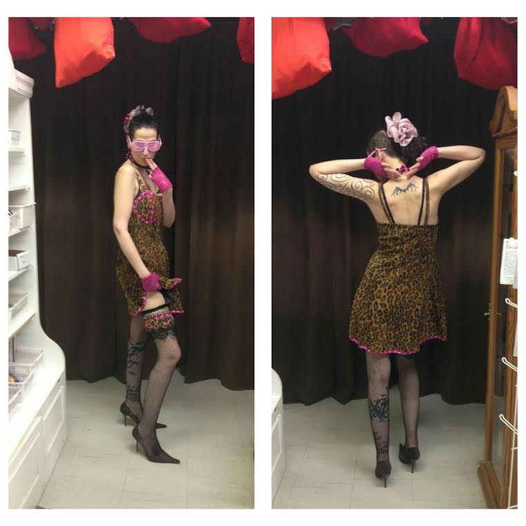 Leopard Print 80's Dress