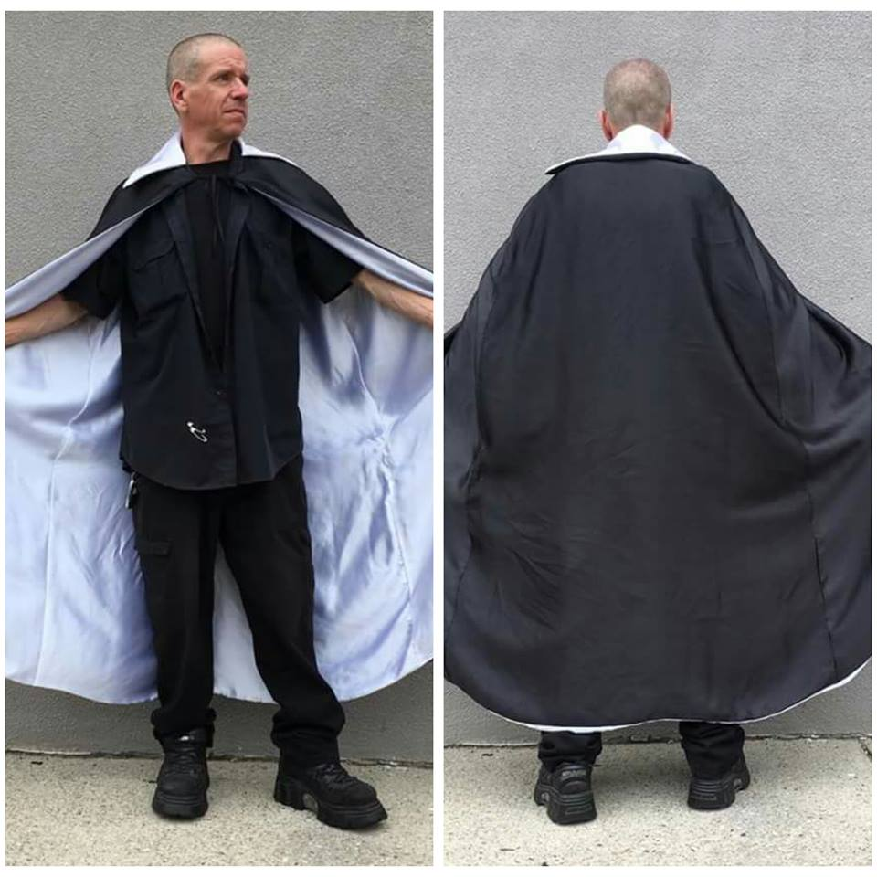 Black Cape w/ White Lining