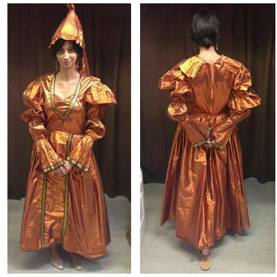 Copper Medieval Dress