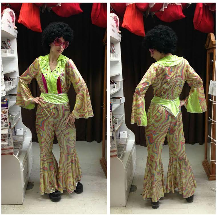 70's Lime Disco Jumpsuit