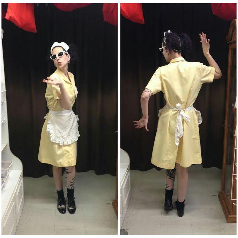 Yellow 50's Waitress
