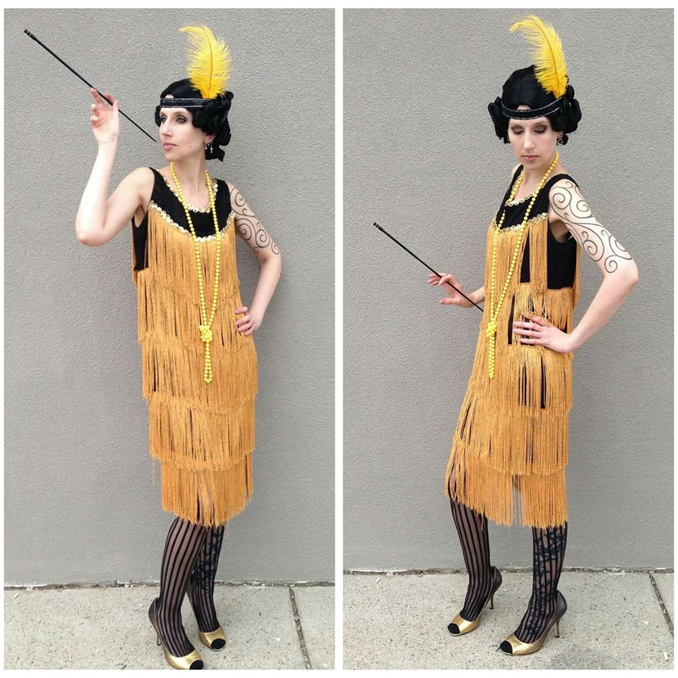 Gold & Black Flapper