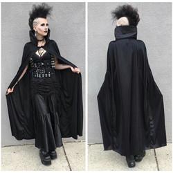 Black cape with Collar