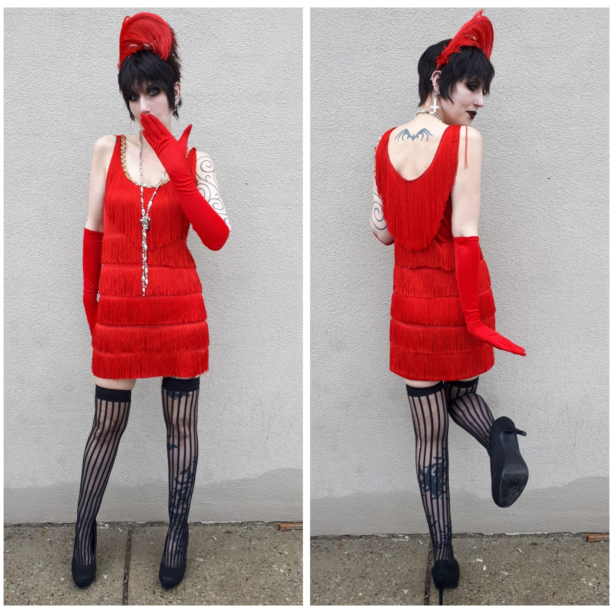 Red Fringe Flapper