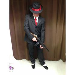 Black Pinstripe Gangster
