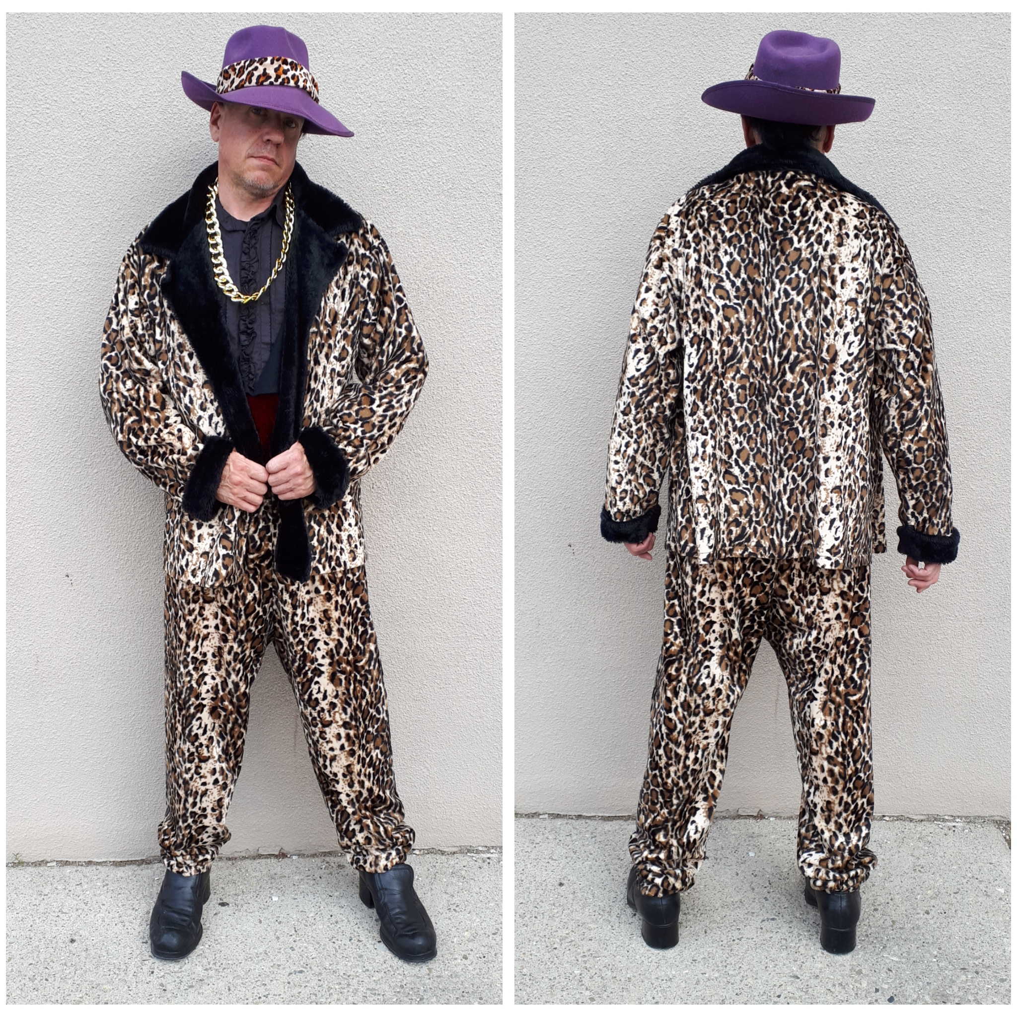 Short Coat Leopard Pimp