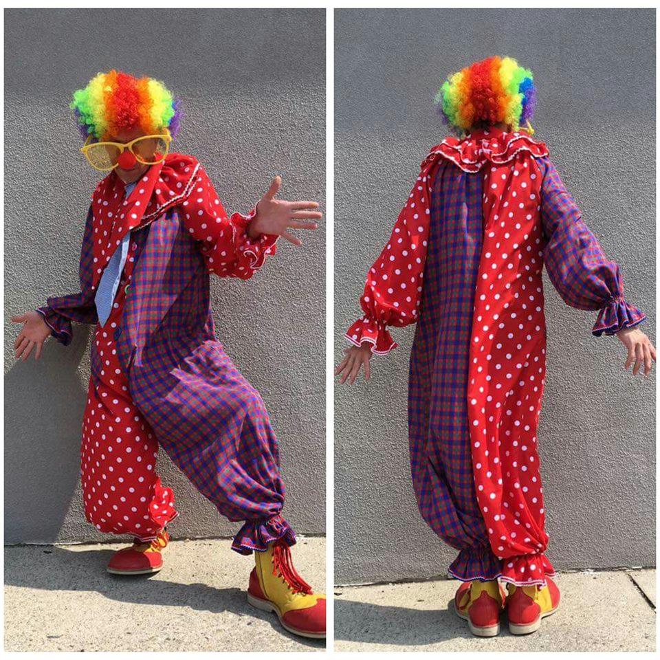 Polka Dot & Plaid Clown