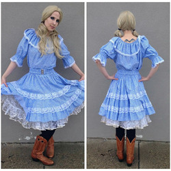 Blue Square Dance Outfit