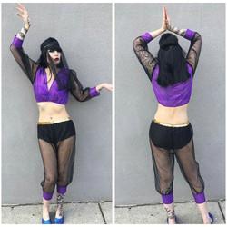 Purple and Black Arabian Dancer