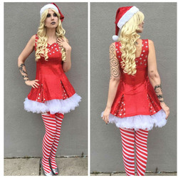 Short Sequin Santa Helper