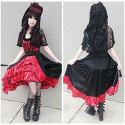 Red & Black Striped Spanish Lady