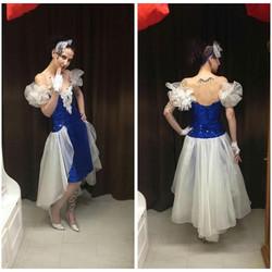 Blue 80's Prom Dress