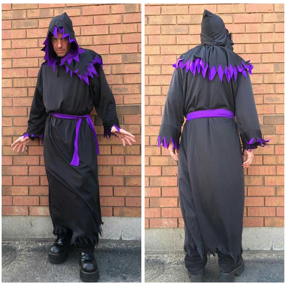 Black & Purple Robe