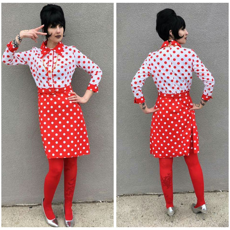 Polka Dot 70's Dress