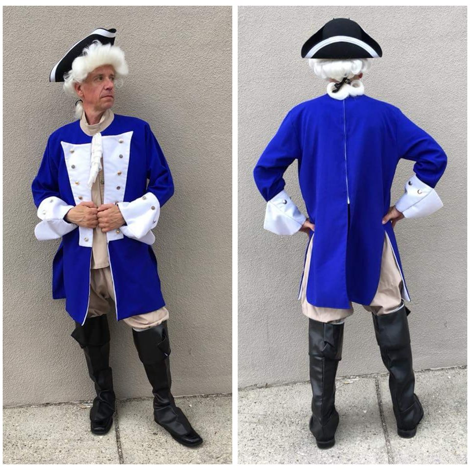 Colonial Captain (Blue + Beige)